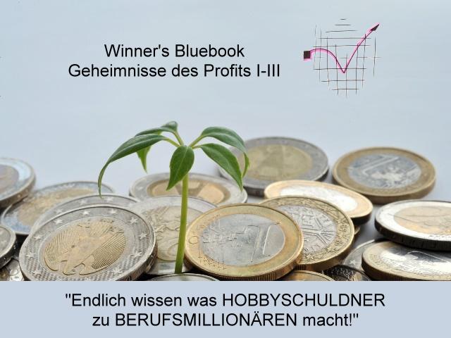 Winners Bluebook · Geheimsnisse des Profits I-III&nbsp;<I>Endlich wissen, was HOBBYSCHULDNER zu BERUFSMILLIONÄRE macht!</I>